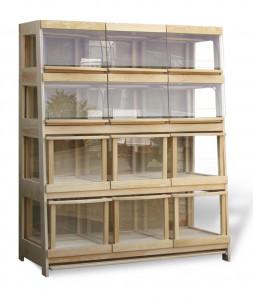 Regał piekarniczy 12 - szufladowy z szufladami z drewna SN