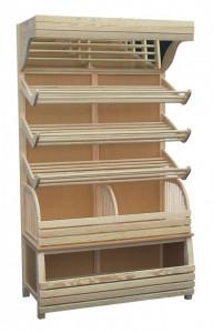 Regał piekarniczy jednostronny na pieczywo PLBCO z drewna SN