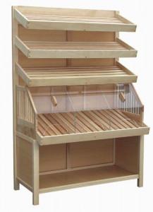 Regał piekarniczy 3 półki jednostronny z osłoną z plexi PJZP 1850 z drewna BK