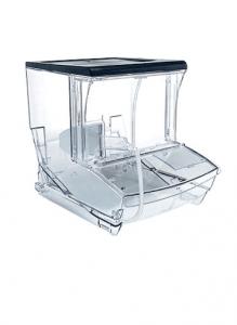 Pojemnik na produkty sypkie do sklepu z wysuwaną do przodu tacką na odpadki i oddzielaczem PX300 - 20 SLD