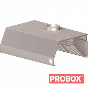 Okap przyścienny trapezowy z łap. B i ośw. 1000x800x450 mm
