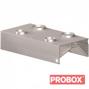 Okap gastronomiczny przyścienny kompensacyjno-indukcyjny z łap. B i ośw. 1200x900x450 mm