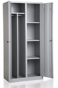 Szafa socjalna metalowa ubraniowa-półkowa BHP, dwudrzwiowa BHP800/2UP