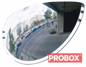 Lustro do wyjazdu z parkingu (szeroki kąt widzenia) 440x75x220mm VIALUX