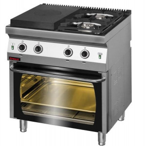 Kuchnia gazowa z płytą grzewczą - piekarnik gazowy 700.KG-2/I-400/PG-2 Kromet