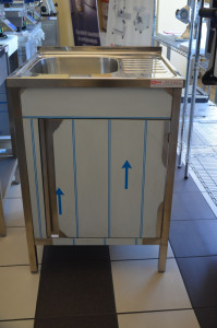 Umywalka nierdzewna 60x60x85 cm zabudowana Ikmet