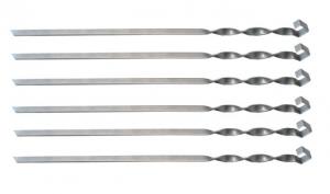 Szampur- Szpikulec do szaszłyków - miecz nierdzewny gr. 2mm 12x600 mm Ikmet