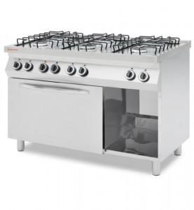 Kuchnia Gazowa 6 Palnikowa Z Konwekcyjnym Piekarnikiem Elektrycznym Gn 11 Revolution
