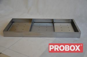 Pojemnik na mięso z ociekaczem 360x78x600 mm