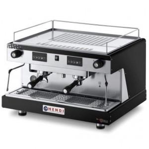 Ekspres do kawy kolbowy HENDI Top Line by Wega 2 grupowy - czarny