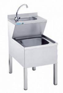 Zlew porządkowy z umywalką - głębokość 600 mm Rilling-Krosno Metal