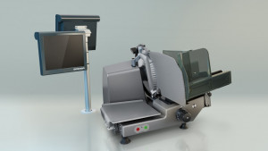 Ręczna krajalnica wertykalna VSC280 zintegrowana z wagą K-class Flex Bizerba