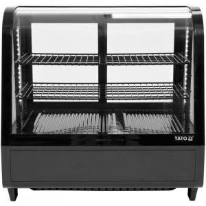 Witryna chłodnicza 100L 68x45x67 czarna Yato Gastro