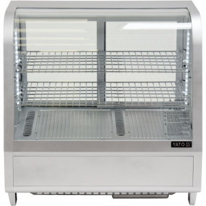 Witryna chłodnicza 100L 68x45x67 srebrna Yato Gastro