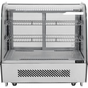 Witryna chłodnicza 120L 68x56x66 srebrna Yato Gastro