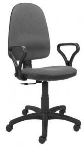 Krzesło biurowe obrotowe Bravo GTP Nowy Styl tepicerka szara