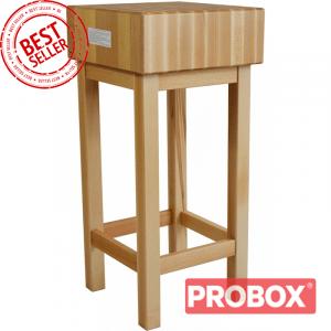 Pieniek Kloc masarski, rzeźniczy drewniany wg Sanepid 400x400x800 mm | OD RĘKI