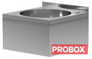 Umywalka zabudowana HACCP 400 mm x 400 mm Polgast