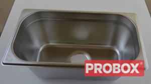 Umywalka do rąk nierdzewna głęboka, food truck, do obsadzenia GN 1/3 150