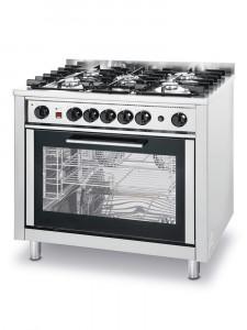 Kuchnia gastronomiczna Hendi gazowa - 5-palnikowa Kitchen Line z konwekcyjnym piekarnikiem i z grillem