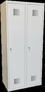 Szafka, szafa ubraniowa (socjalna) BHP Sum 420W, 80 cm 2 drzwiowa, przegrody HIT