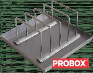 Stojak na gofry z tacką INOX - do odparowania 4 gofrów