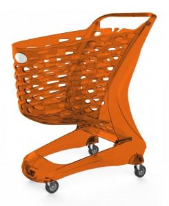 Wózek sklepowy plastikowy MINI Glamour 80L Rabtrolley