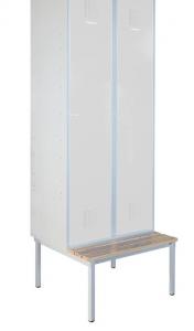 Szafa ubraniowa (socjalna) BHP 80 cm 2 drzwiowa + podstawa/ławka | OD RĘKI