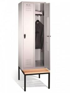 Szafa ubraniowa na ławeczce 2 drzwiowa
