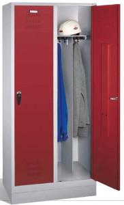 Szafa ubraniowa na odzież czystą i brudną na cokole 100 mm
