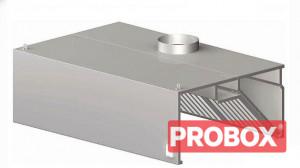 Okap gastronomiczny przyścienny skrzyniowy 1000x600x450 mm