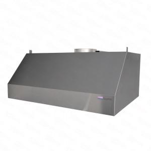 Okap gastronomiczny przyścienny trapezowy 1100x800x450 mm + filtry labiryntowe - OD RĘKI