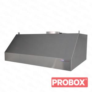 Okap gastronomiczny przyścienny trapezowy 1600x800x450 mm + filtry labiryntowe