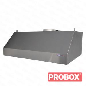 Okap gastronomiczny przyścienny trapezowy 2000x800x450 mm + filtry labiryntowe
