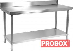 Stół centralny składany z półką 1600x600x850(H) + 100mm