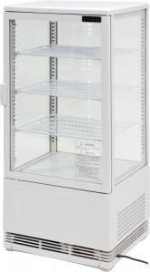 Witryna chłodnicza biała 78L, 42x38x96 cm
