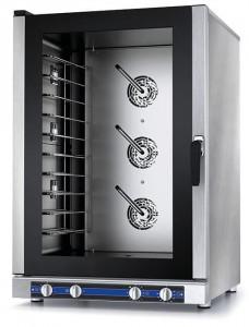 Piec konwekcyjno-parowy manualny – 10x GN 1/1 oraz do blach piekarniczych, 13,8kW