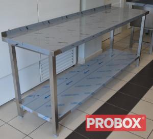 Stół nierdzewny z półką 200-60-85 | OD RĘKI