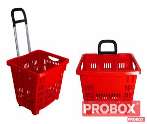 Koszyk zakupowy 55 L na kółkach - DETAL - OD RĘKI