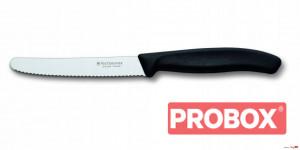 Gastronomiczny nóż do warzyw i owoców, ostrze ząbkowane, 11 cm,czarny, Swiss Classic