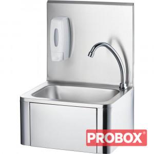Umywalka kolanowa z kranem i dozownikiem mydła - Stalgast, 610005