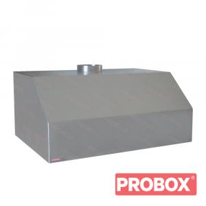 Okap gastronomiczny przyścienny trapezowy 1100x800x500 mm + filtry labiryntowe, krócieć Ø 250 mm
