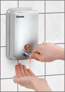 Dozownik mydła, ścienny, StCrNi, 1L