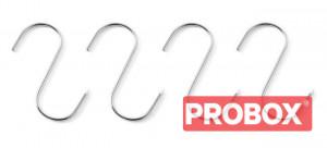 Haki rzeźnicze - zestaw 4 szt. 130x5 (na pręty max.fi. 35 mm)