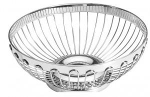 Koszyk do pieczywa i owoców - okrągły, stalowy 3
