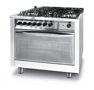 Kuchnia gastronomiczna gazowa 5-palnikowa Profi Line z konwekcyjnym piekarnikiem elektrycznym i z grillem