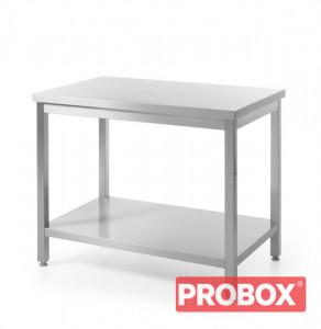 Stół nierdzewny gastronomiczny centralny z półką dolną - skręcany 1000 x 600 x 850 mm