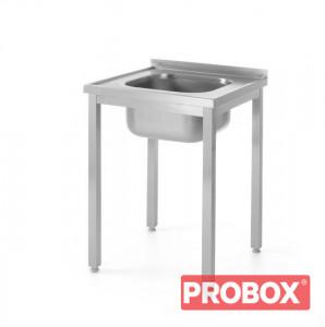 Zlew INOX 60-60 cm - skręcany