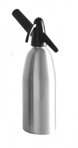 Syfon do wody sodowej srebrny