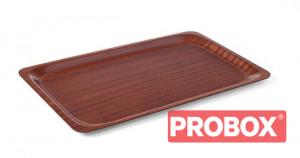 Taca antypoślizgowa drewniana - prostokątna Euronorm